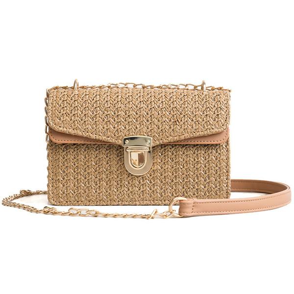 Лето Crossbody сумки для женщин 2018 роскошные сумки женские сумки дизайнер известный бренд дамы ротанга пляж плетеные соломы лоскут сумка