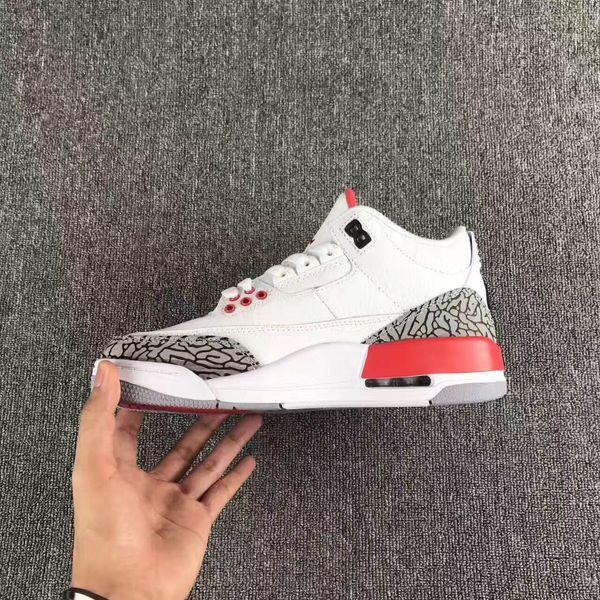 3 обувь белый черный цемент инфракрасный 23 баскетбольная обувь Катрина кроссовки мужчины дизайнер 2017 GS Волк серый расширенный качество версия размер 8-13