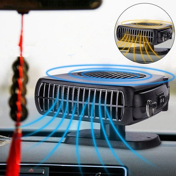 150W 12V Car Parking Heater Electric Heating Cooling 2 in 1 Fan Portable Auto Dryer Heated Windshield Defroster Demister