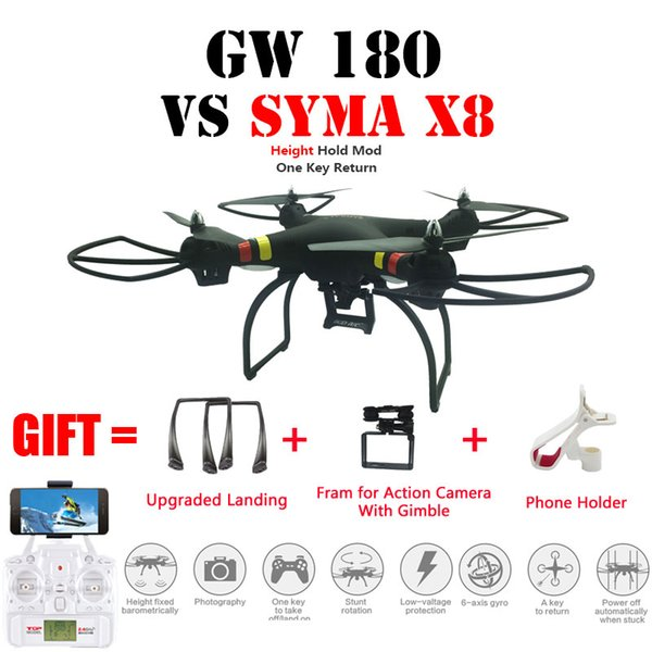 Professional Drone GW180 Quadcopter RC Helicopter Height Hold Mode With 4k/1080P Wifi HD Camera Can Carry Vs Syma X8/X8HW
