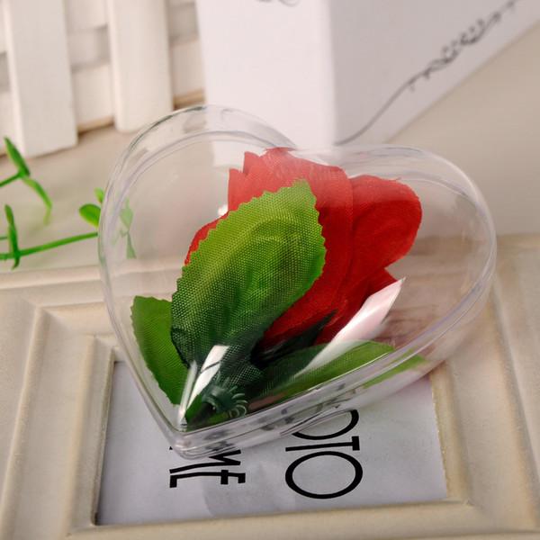 Boule en plastique transparent Eco Friendly Amour Coeur Forme Ornement Pour la fête de mariage Décorations de Noël Vente directe d'usine 1 57sq4 VB