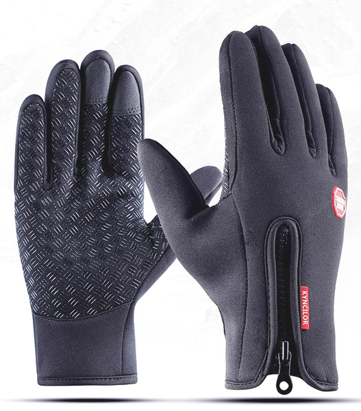 top popular Windproof waterproof warm winter gloves for skiining cycling outdoor activities fingertips with conductive fabric operate touch screen phone 2021