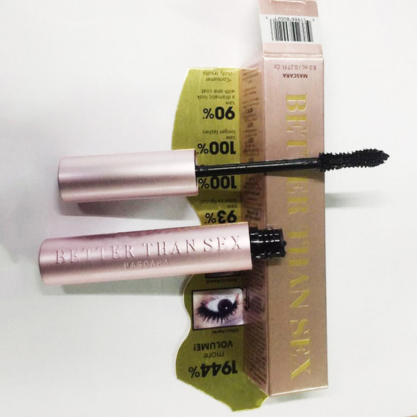 best selling In stock! Volume Mascara Rose gold Better Than sex Mascara High Quality Cool Black Mascara DHL free ship Top qualtity!