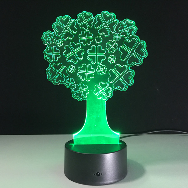 7 Colors Changing Halloween Tree 3D Night Lights Novelty Visual Lights USB Touch Switch Table Lamp Halloween Decoration Gift