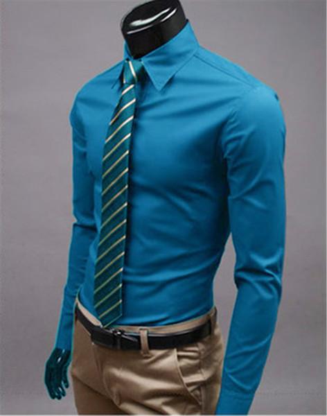 New Fashion Brand Athens blue Groom Shirts Long Sleeve Shirt Men Slim Design Formal Casual Male Dress Shirt Size M-5XL (C8020)