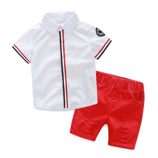 Fashion 2017 New Kids Clothing Set Baby Boy Cotton T Shirt Short Pants Children Set For Summer Boy Cartoon Clothes Fits 2 Colors 2-6T