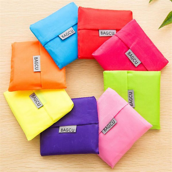 best selling Nylon Portable Creative Foldable bag gift shopping Reusable Environmental Protection Pouch Eco-Friendly Shopping Bags wholesale 020