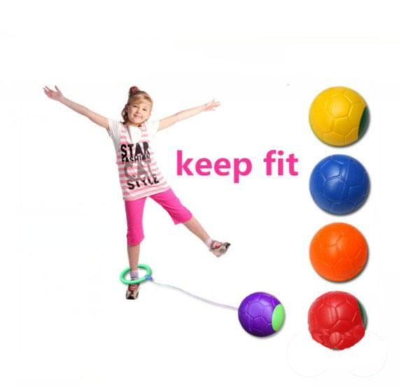 Funny one foot skip ball jump ball foot hula hoop skipping rope bouncing ball toy educational outdoor toy children exerciae gift