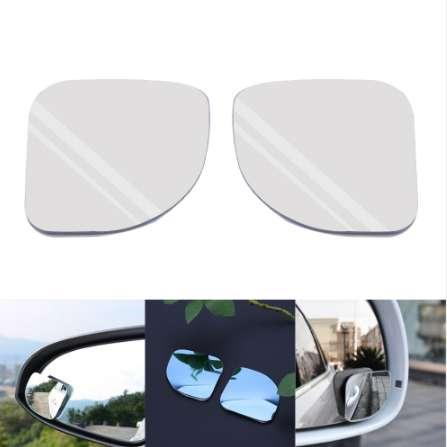 2 pcs Car Styling Clear Car Rearview Mirror 360 Rotating Safety Wide Angle Round Convex Blind Spot Mirror Parking Accessories