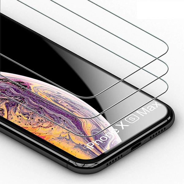 Für iphone xs max xr x 7 8 6 plus galaxy s6 note 5 premium gehärtetes glas displayschutzfolie huawei mate 20 pro