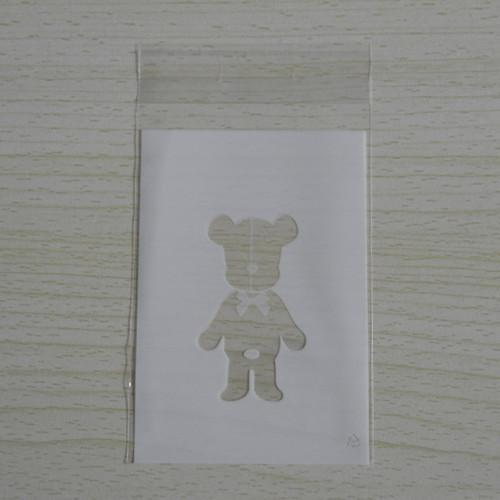 400Pcs/Lot 7*11cm White Clear Bear Cookie Packaging Self Adhesive Plastic Bags for Biscuit Snack Cupcake Baking Event Pack