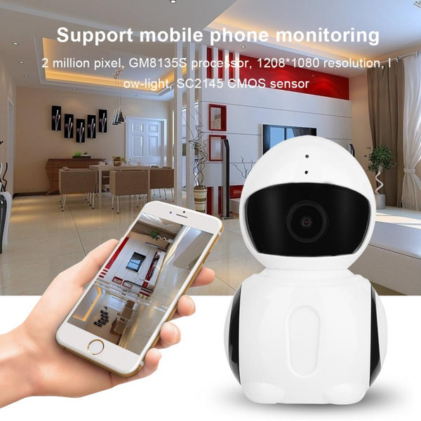 Wireless 1080P Baby Monitor Network Security Surveillance IP Camera Night Vision WiFi Webcam Support for iOS / Android 100-22V