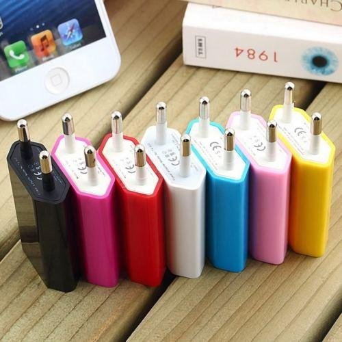 new Cell Phone Chargers NEW EU Plug USB Power Home Wall Charger Adapter for Cellphone iPhone Samsung E264