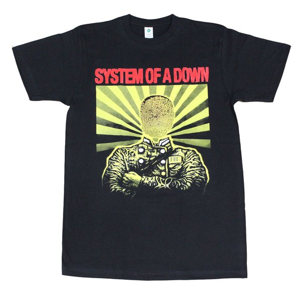 Maglietta da uomo System of A Down Physigraphy Black Men Marca Clothihng Top Quality Fashion Mens T Shirt 100% cotone