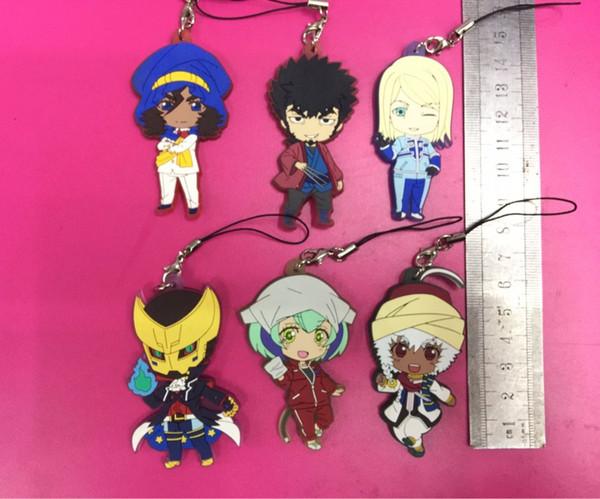 6pcs/lot GSC DIMENSION W Original Japanese anime figure rubber mobile phone charms/key chain/strap D052