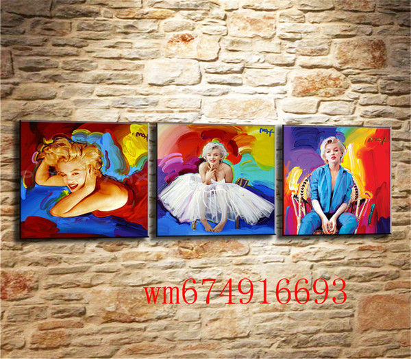 Marilyn Monroe , 3PC Pieces Home Decor HD Printed Modern Art Painting on Canvas (Unframed/Framed)
