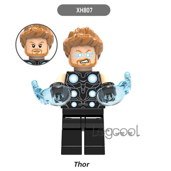 whole 10pcs Heroes Marvel XH 807 Thor Ragnarok Figure Loki Topaz Heimdall Hela Surtur Valkyrie Executioner building blocks toys for children