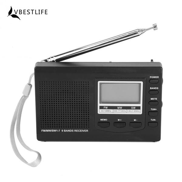 Multifunction FM Radio Portable Mini Radios FM/MW/SW Receiver With Digital Screen Display Alarm Clock FM Stereo Radio Receiver
