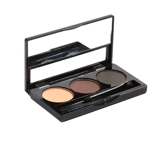 Smoky Makeup Eyebrow Powder With Mirror Brush Waterproof Sweatproof Long Lasting Eye Brow Palette For Women Lady FM88