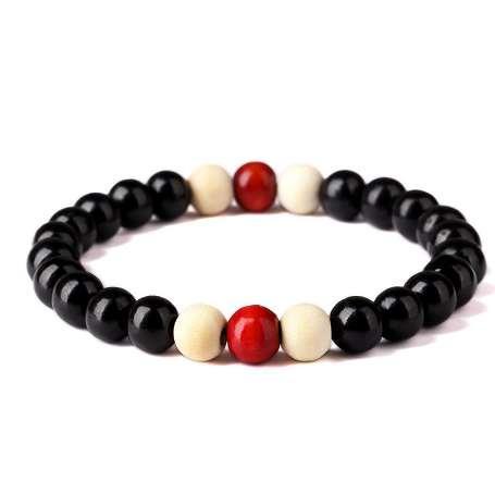 New Fashion Naturale Radice di Perline di Legno Chakra Jewery Hip Hop Bead Bracelet Buddha Parola Gioielli Per Uomo Donna regalo vendita speciale