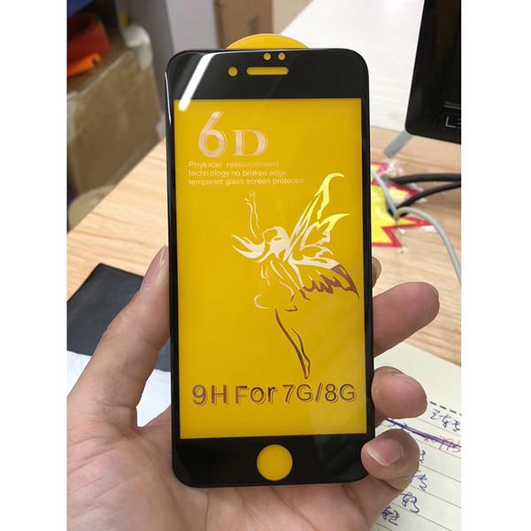 Pour iPhone XS MAX XR 8 7 Plus 6D Housse Etui Rigide En Verre Trempé Protecteur HD Dureté Pour Samsung A50