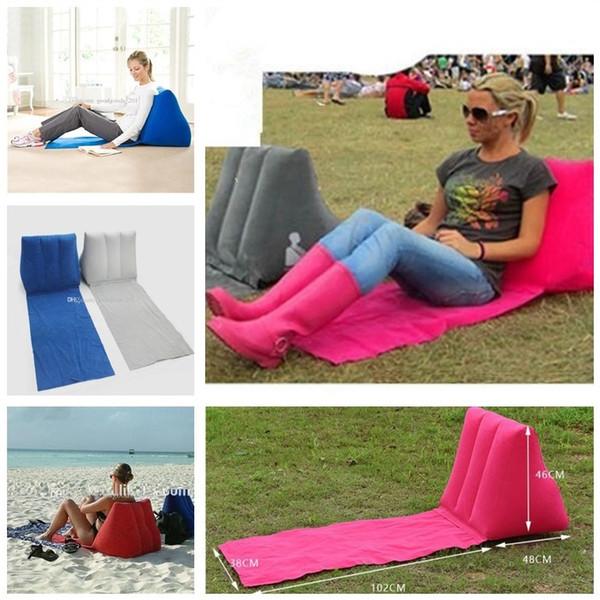 5 couleurs 150 * 38 * 46cm tapis gonflable gonflable tapis de plage