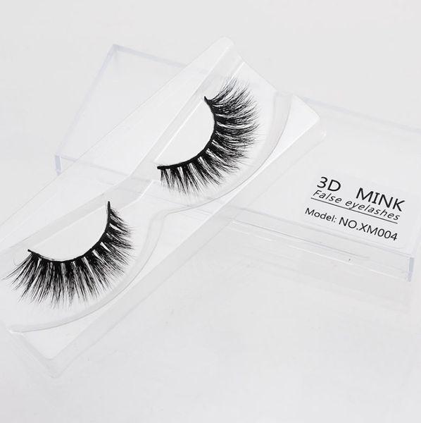 2018 Newest Messy Sexy Girl Fake Eyelashes Mink natural crisscross lash extension 100% handmade false eyelash thick long Black Smokey lashes