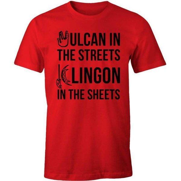 Vulcan in the Streets, Klingon in the Sheets T-shirt - Funny Star Trek Fan Tee N