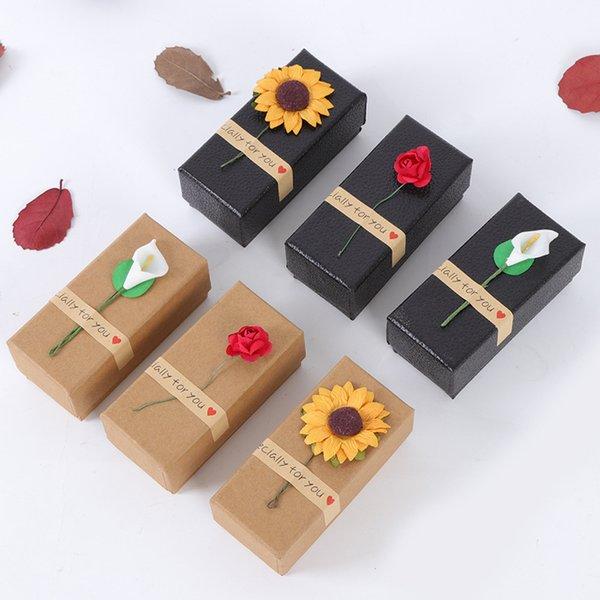 Preto Marrom Vazio Caixa de Papel Kraft para Tubos de Batom Caixa de Embalagem De Óleo Essencial de Perfume