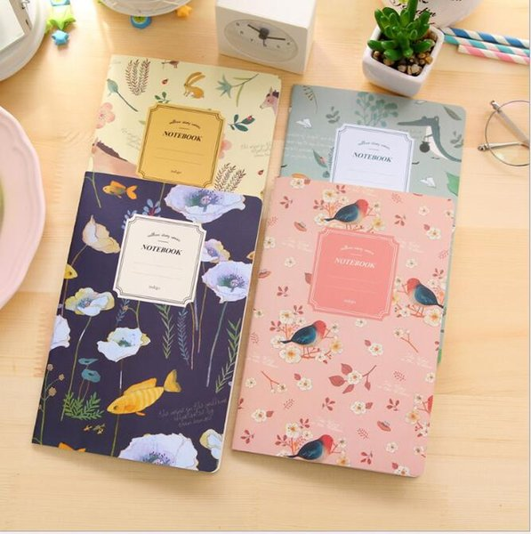 wholesale Cute Mini Vintage Flower Notebook Lovely Animal Notepads for Kids Gifts Korean Stationery Free Shipping