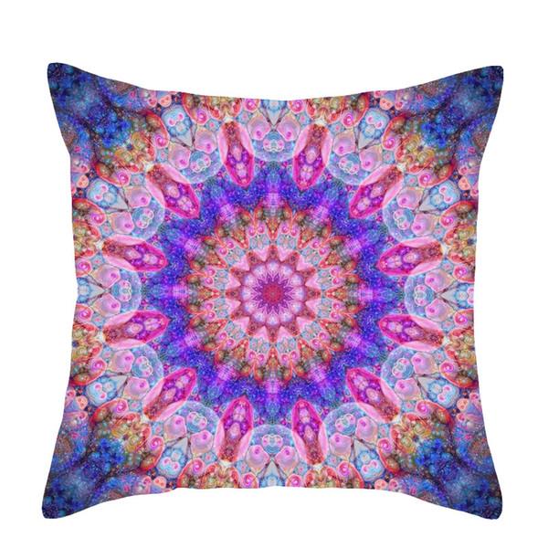 Mandala Style Indian Ombre Pillow Case Hippie Boho Throw Cushion Cover Floor Pillow Cover Bohemian Pillowcase Sofa Car Decoration King Size Pillow