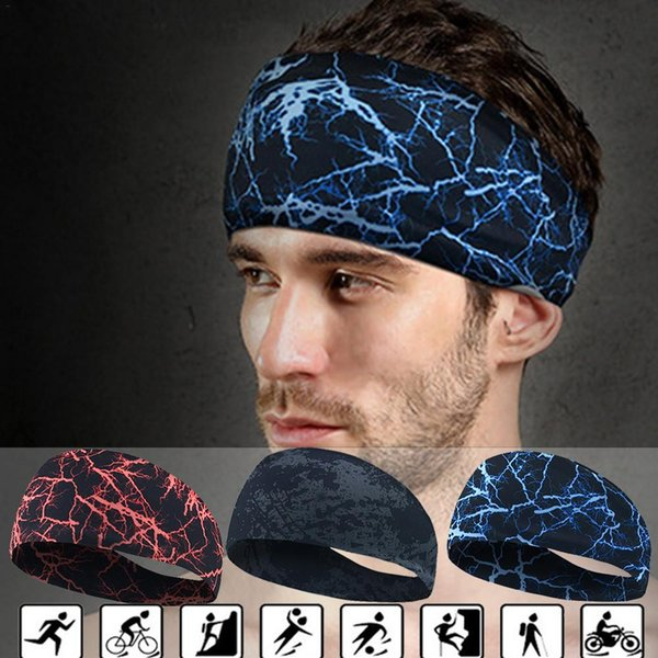 Sport Sweat Headband Sweatband Yoga Hair Bands Running Cycling Dance Fitness Head Anti Sweat Bands Sports Safety Men Women