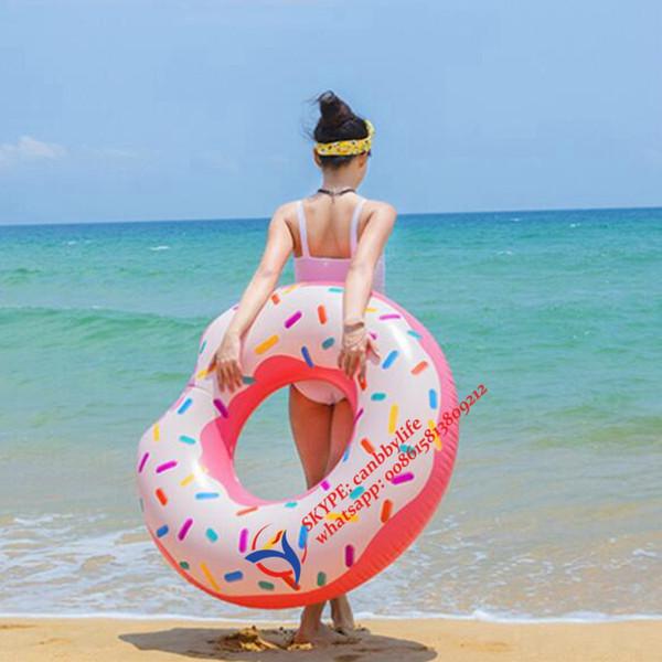 "2017 New Water Fun Intex Donut Tube Inflatable Swim Tube Float Hot Sale Inflatable Donut Swimming Pool Float Raft 42"""