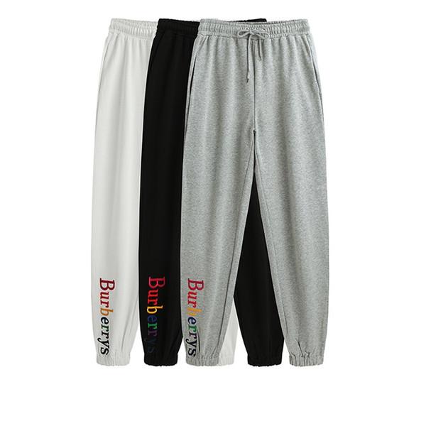 2018 Mens high quality letter embroidery sweatpants designer track jogging pants womens yoga joggers track streetwear sweat pants