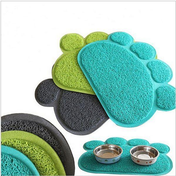 Shape Pets Feet Mat Placemat PVC Radiating Dog Cats Sleeping Feeding Pads
