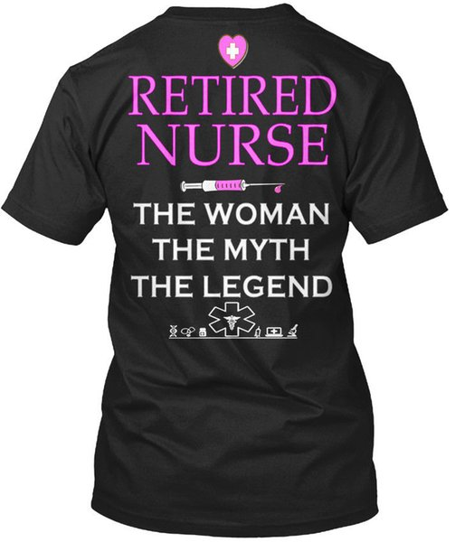 Nurse Nursing S 28 Retired The Woman Myth Legend T-shirt Élégant Tee Shirt for Men Fashion Short Sleeve Cotton Custom Big Size Men's T-shirt