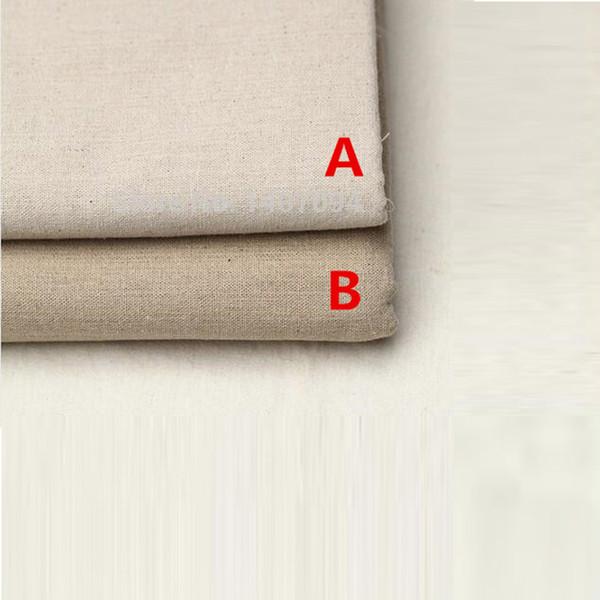 2018 50*150cm Linen Fabric for Patchwork Felt Tulle Rolls Countryside Style Cotton Fabrics/Plain Coloured Hemp Fabric Tablecloth