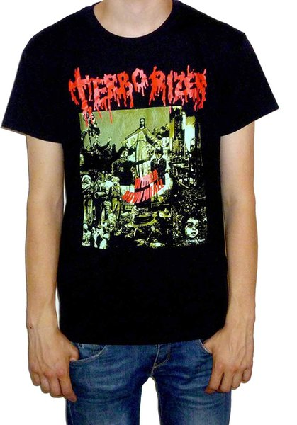 Terrorizer - World Downfall camiseta estilo de diseño New Fashion manga corta