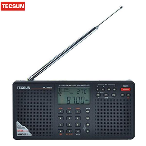Comercio al por mayor-Tecsun PL-398MP Radio DSP FM Reproductor de MP3 FM estéreo / MW / SW / LW Receptor Tarjeta SD de doble altavoz portátil Radio Recorder Y4132A