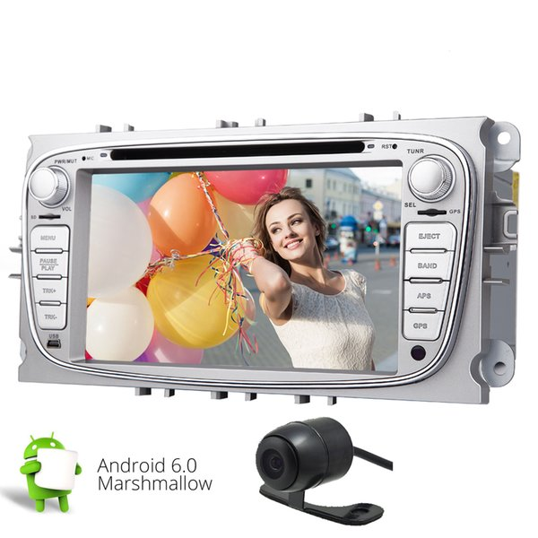 7'' Quad Core Android 6.0 Car Stereo Head Unit in Dash HD Multi-touchscreen Double Din Car DVD Player Stereo for Ford Focus