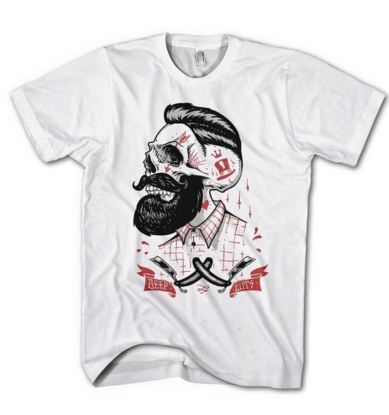Chemises imprimées sur mesure à manches courtes pour hommes Hipster coupe profonde Mannerfrisur Punk Beard O-Neck Compression T Shirts
