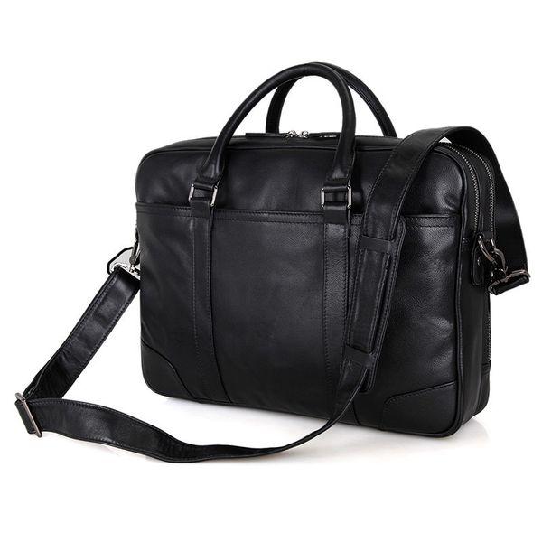 Natural Cow Leather Brand Men Handbags Travel Large Men's Shoulder Messenger Bags Laptop Tote Bag Genuine Leather Briefcase