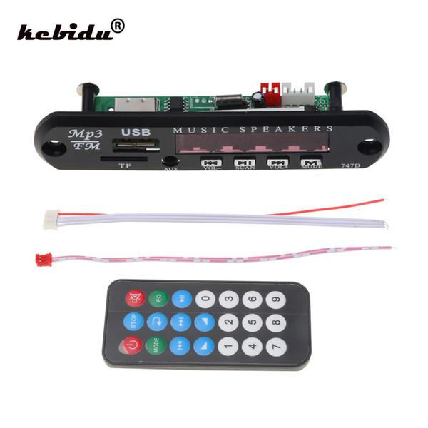 Kebidu DC 5 V 12 V Araba AUX 3.5 MM MP3 Modülü Dekoder Kurulu TF FM Radyo Ses Mikro USB Güç Kaynağı Için Araba Uzaktan Müzik Hoparlör