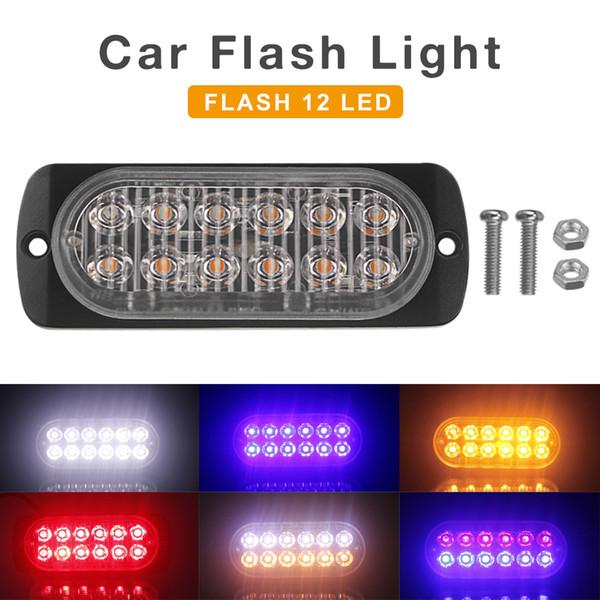 12V / 24V 36W impermeable 12 LED impermeable del coche camión de baliza de emergencia de advertencia de peligro estroboscópico del flash de la barra ligera de CLT_213