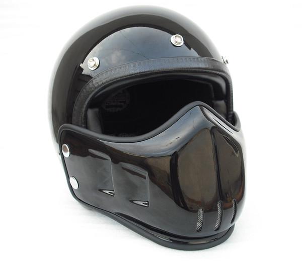 Motorcycle helmet full face Fiberglass helmet cool with face mask vintage retro motocross bike scooter helmet