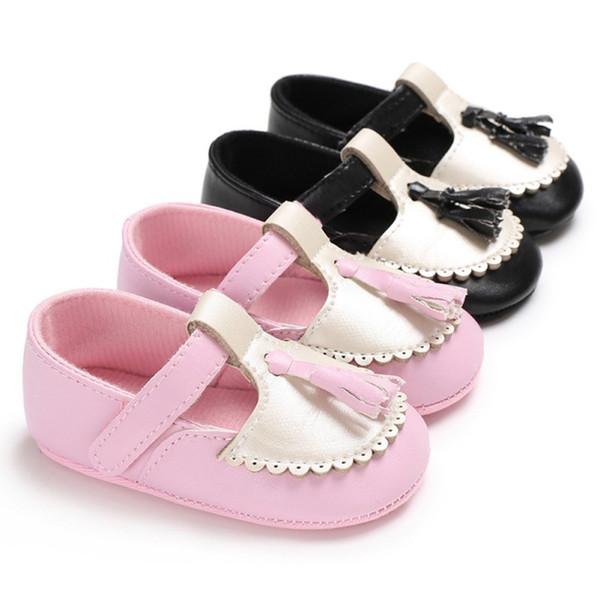 Baby Princess PU Tassel Shoes Soft Bottom Anti-skid Spring Autumn Fashion First Walkers Prewalkers