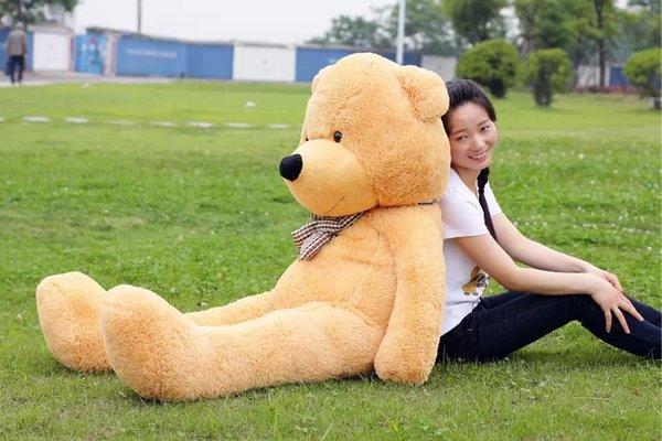 """78"""" 200CM Giant Teddy Bear Stuffed Animal Plush Toy Valentine Gift Boyfriend Girlfriend Daughter Son Children Birthday Free"""
