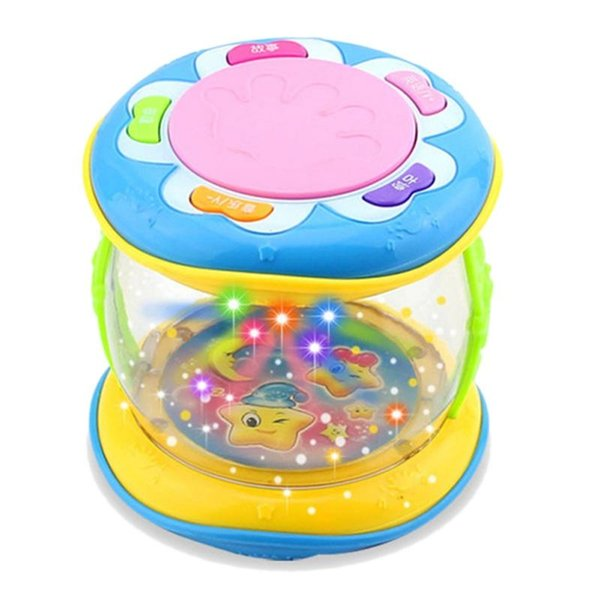 LED Music Early Educational Learning Baby Rattles Funny Infant Developmental Toys Mini Magic Children Hand Drum Beat