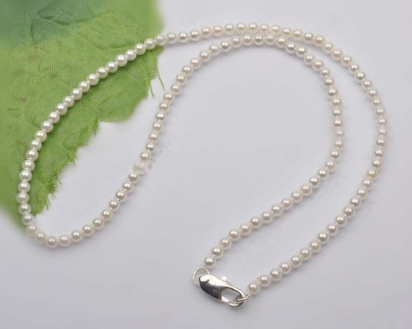 Charming Beautiful Natural 6-7mm White Akoya Pearl chains Necklace 20''AAA