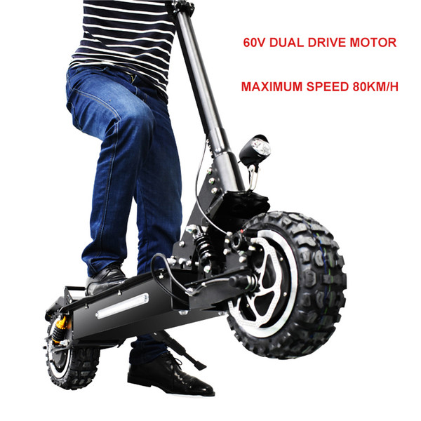 12inch Elctric scooter 60V3200w Front rear dual-drive off-road electric scooter ebike maximum 80km/h Folding electric bicycle